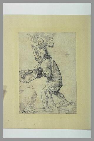 Saint Christophe passant le gué avec l'Enfant Jésus sur son épaule