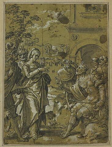 Sainte Catherine d'Alexandrie refusant d'abjurer sa foi