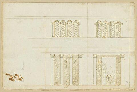 Décoration pour l'intérieur d'une chapelle octogonale