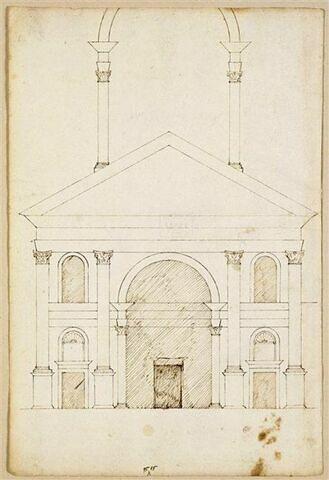 Esquisse de la façade Saint-André de Mantoue