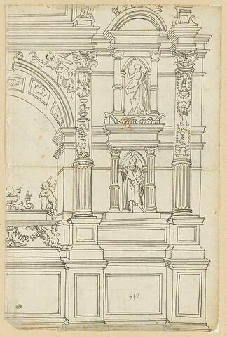 Moitié droite d'un monument funéraire de style classique