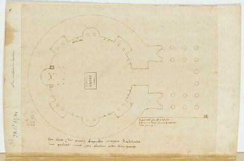 Le plan du Panthéon d'Agrippa à Rome