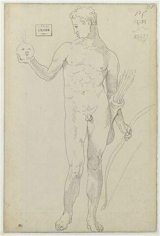 Apollon tenant un carquois et un arc