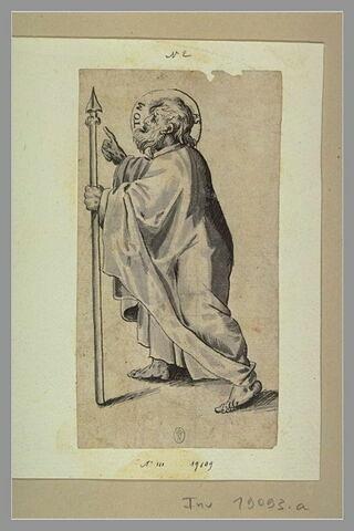Saint Thomas marchant à gauche