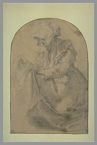 Sainte Véronique agenouillée, tenant la Sainte Face