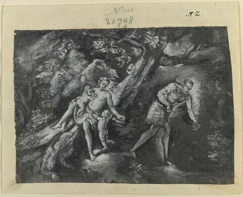Adam et Eve avec Caïn et Abel enfants