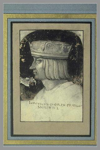 Portrait de Louis, roi de France, de profil à gauche