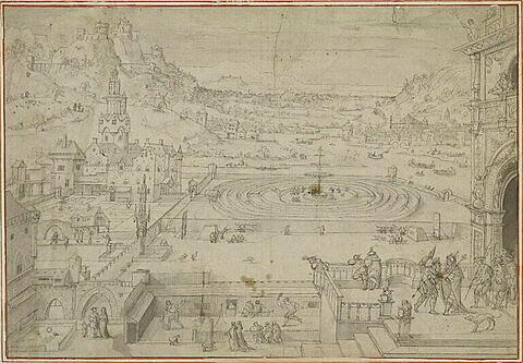 Divertissement dans les jardins du palais du roi David