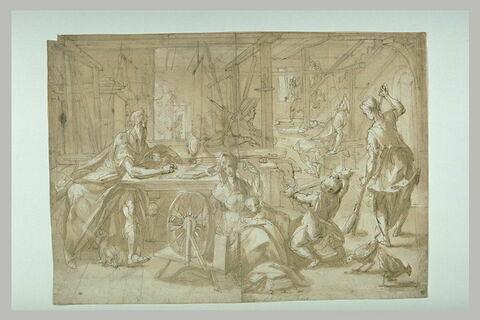 Saint Paul chez Aquila et Priscille en Corinthe