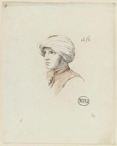 Portrait en buste d'Ali