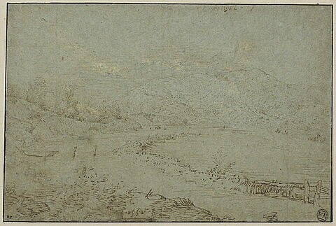 Bords d'une rivière tranquille