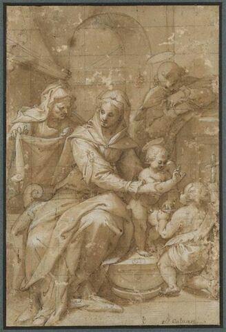 La Sainte Famille avec sainte Anne et le petit saint Jean
