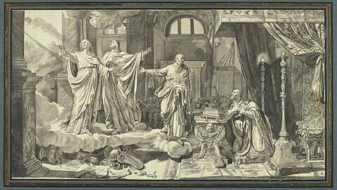 Saint Gervais et saint Protais apparaissant à saint Ambroise