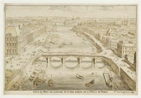 Vue du pont du Louvre