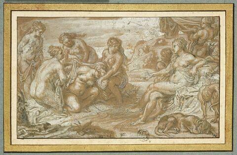Nymphes découvrant la grossesse de Callisto