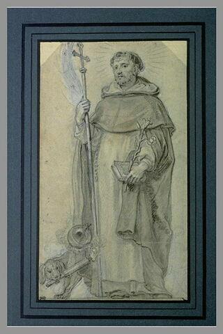 Saint Dominique tenant une croix dans la main droite