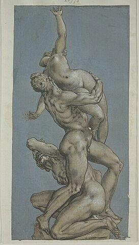 L'enlèvement d'une sabine, étude pour un groupe sculpté