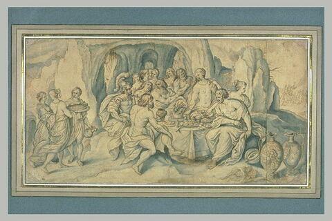 Festin de dieux, à l'occasion du mariage de Neptune et d'Amphitrite
