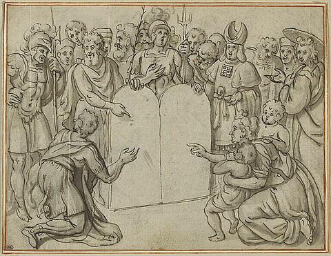 Moïse montrant au peuple les Tables de la Loi