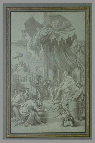 Scipion recevant Allucius