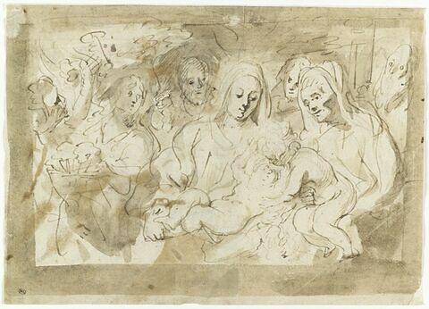 Etude pour une Sainte Famille avec saint Jean et sainte Elisabeth
