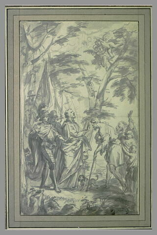Saint François Xavier guérissant un aveugle