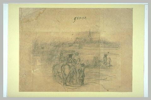 Vue de la ville de Grave, sur la Meuse, en Brabant