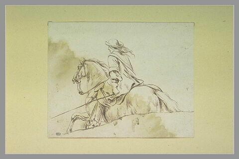 Cavalier galopant vers la gauche
