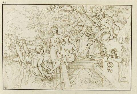 Diane surprise au bain par Actéon