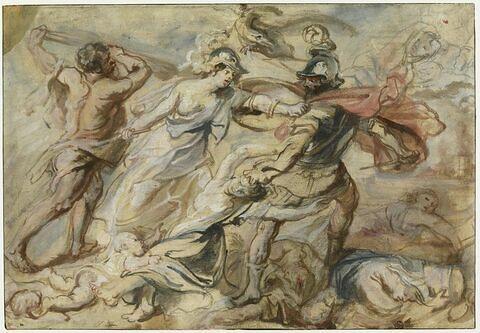 Minerve et Hercule repoussant Mars