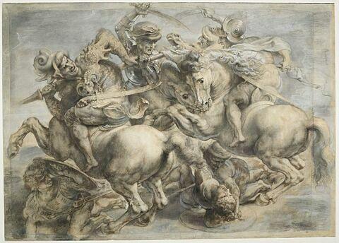 'La lutte pour l'étendard' de la 'Bataille d'Anghiari'
