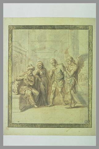 L'ange Raphaël proposant de conduire Tobie chez Raguel