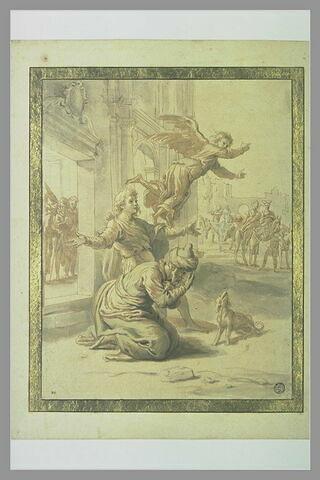 L'ange Raphaël quittant la famille de Tobie