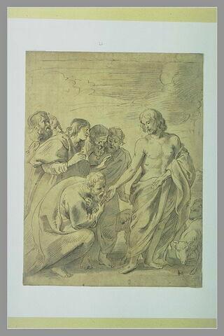 Jésus-Christ confiant ses brebis à saint Pierre