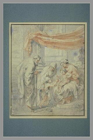 La Sainte Famille et sainte Elisabeth et le petit saint Jean