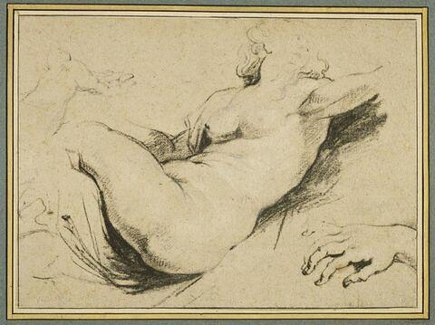 Femme nue ; main gauche ; main droite