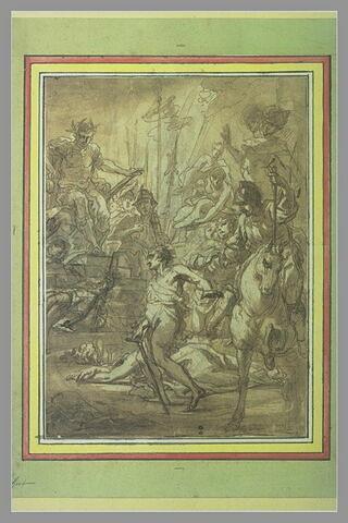 Décollation de saint Georges (?) devant un empereur romain