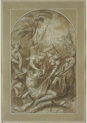 Penthée déchiré par  Agavé et les femmes de Thèbes costumées en bacchantes