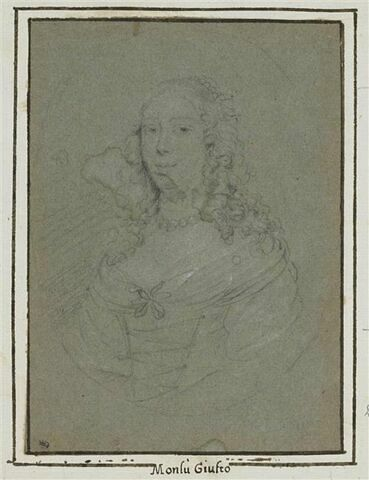 Portrait d'Anna de' Médicis dans un ovale
