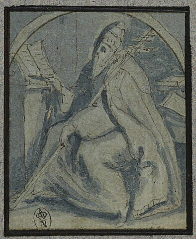 Saint grégoire le grand, devant un pupitre