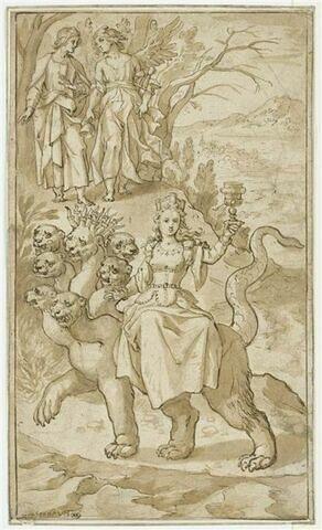 Ange désignant à saint Jean la Prostituée de Babylone