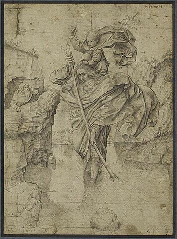 Saint Christophe passant l'Enfant Jésus