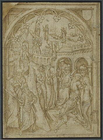 Scènes du martyre de sainte Barbe