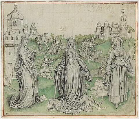 Sainte Barbe, sainte Catherine d'Alexandrie et sainte Marguerite