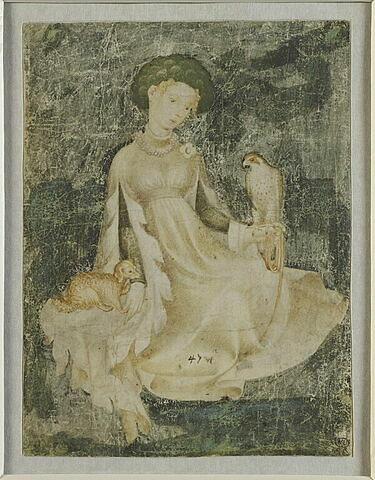 Jeune dame au faucon