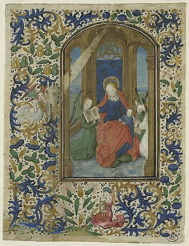 La Vierge à l'Enfant assise et trois anges