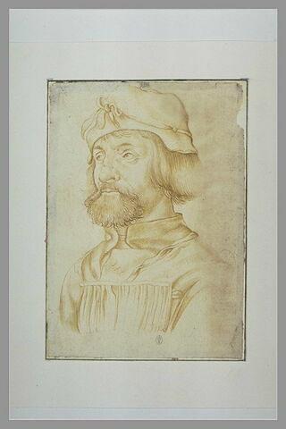Portrait d'homme avec un bonnet, de trois quarts