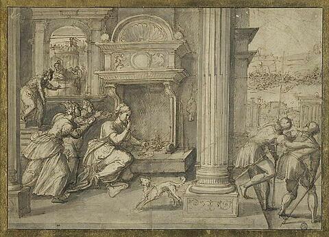 La mort de Portia, femme de Brutus