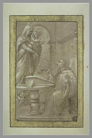 Apparition de la Vierge à l'Enfant à saint Benoît