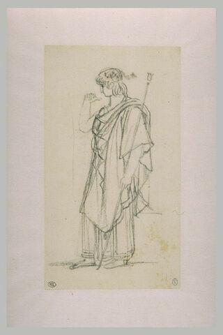 La figure d'Oreste, debout et drapée